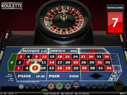 Trải nghiệm game French Roulette